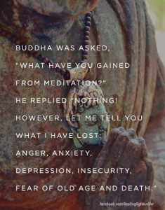 Buddha and meditation